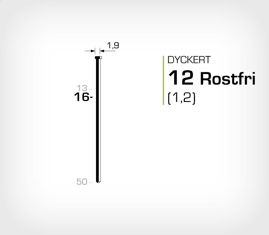 Dyckert rostfri 12/16 SS (SKN 12-16 SS)