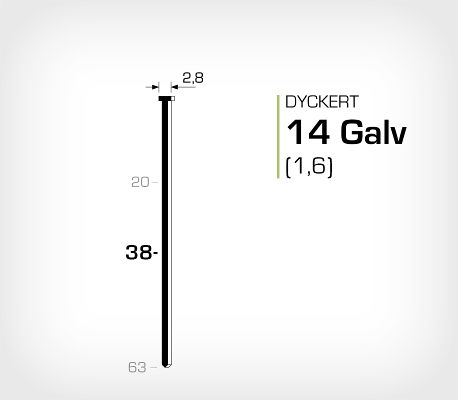 Dyckert 14/38 Elförzinkad (SKN 16-38)