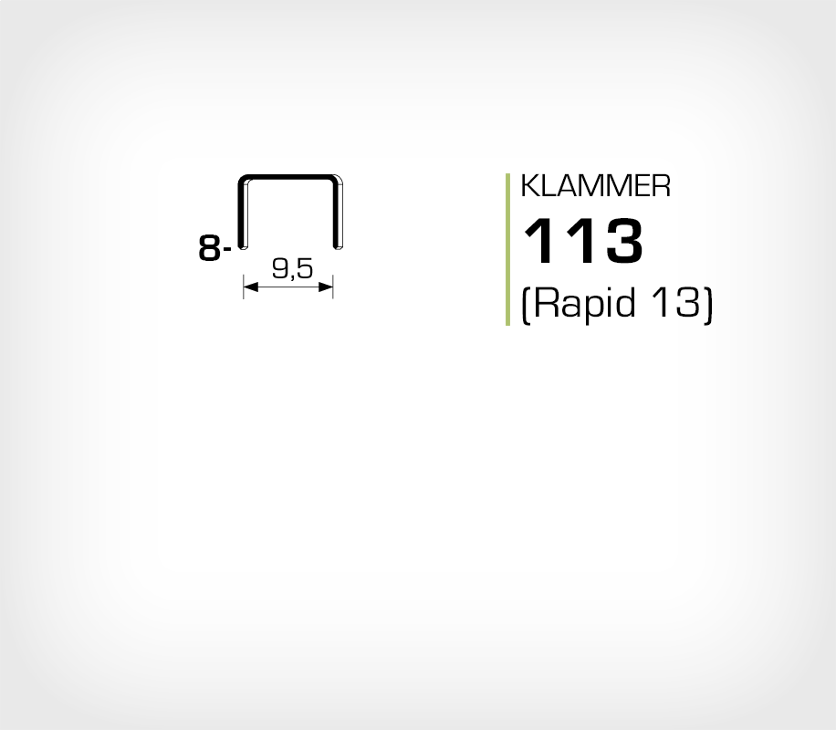 Klammer 113/8 (Rapid 13/8 Strong)