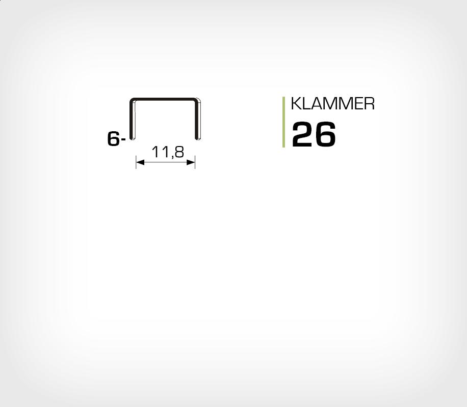 Klammer 26/8 - Rapid 26/8 Super Strong