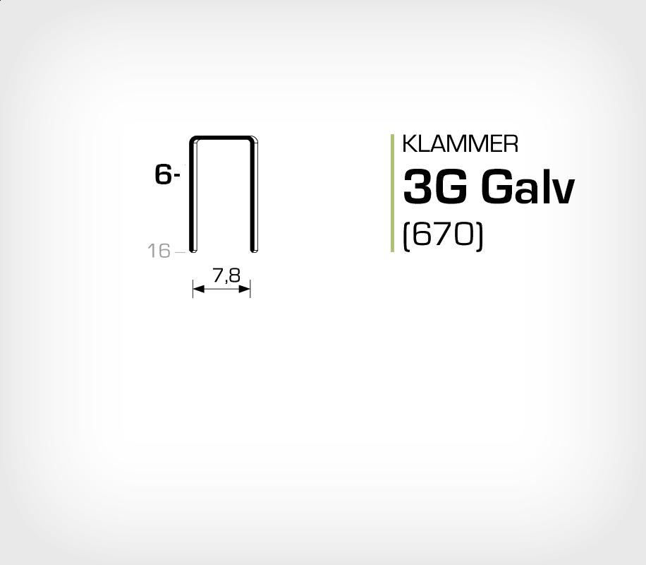 Klammer 3G/6 Elförzinkad Galv (670-06)