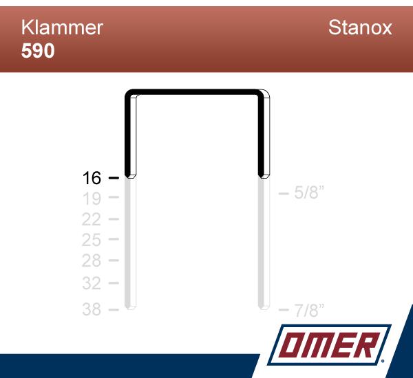 Klammer 590/16  - Emballageklammer