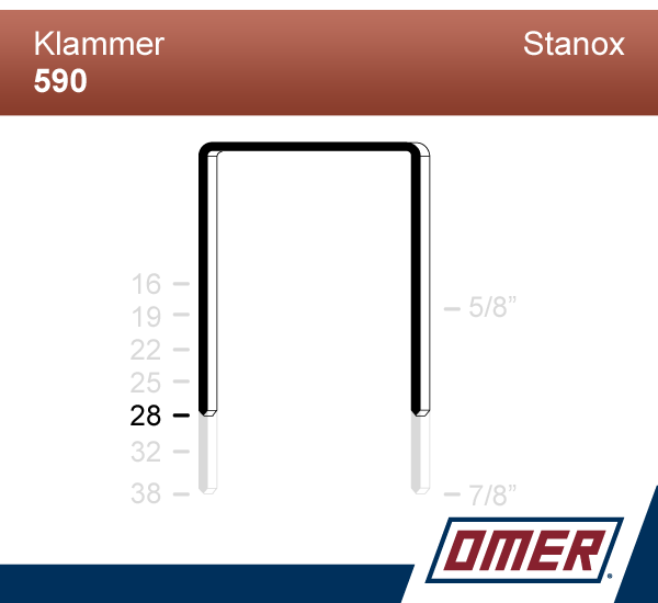 Klammer 590/28  - Emballageklammer