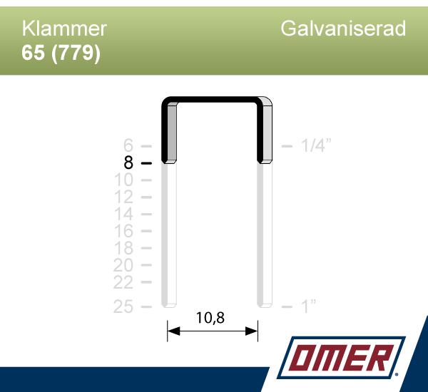 Klammer 65/8 (779-08) - Ask