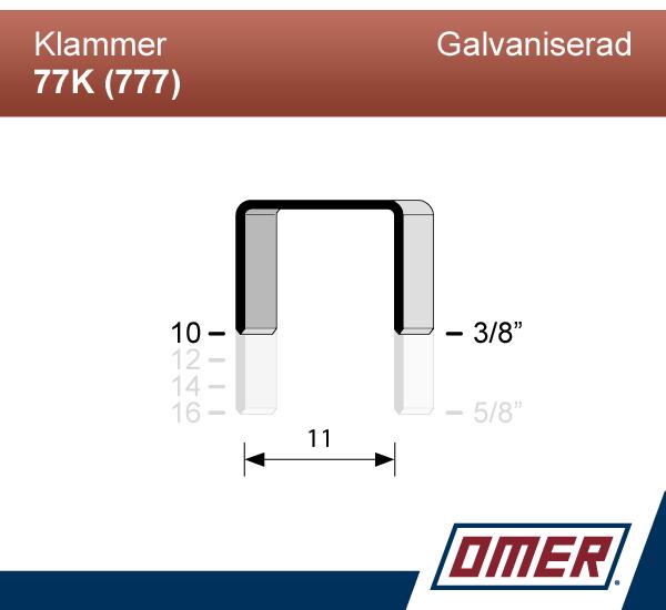 Klammer 77K/10 (777-10) - Ask