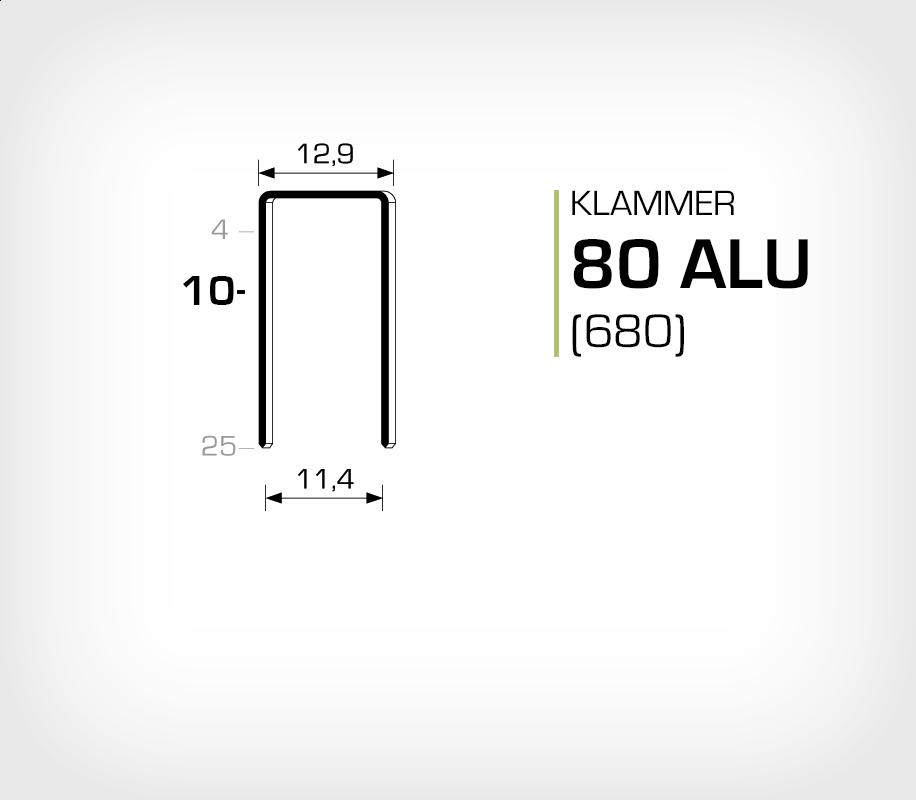 Aluminiumklammer 80/10 ALU (Aluminium)