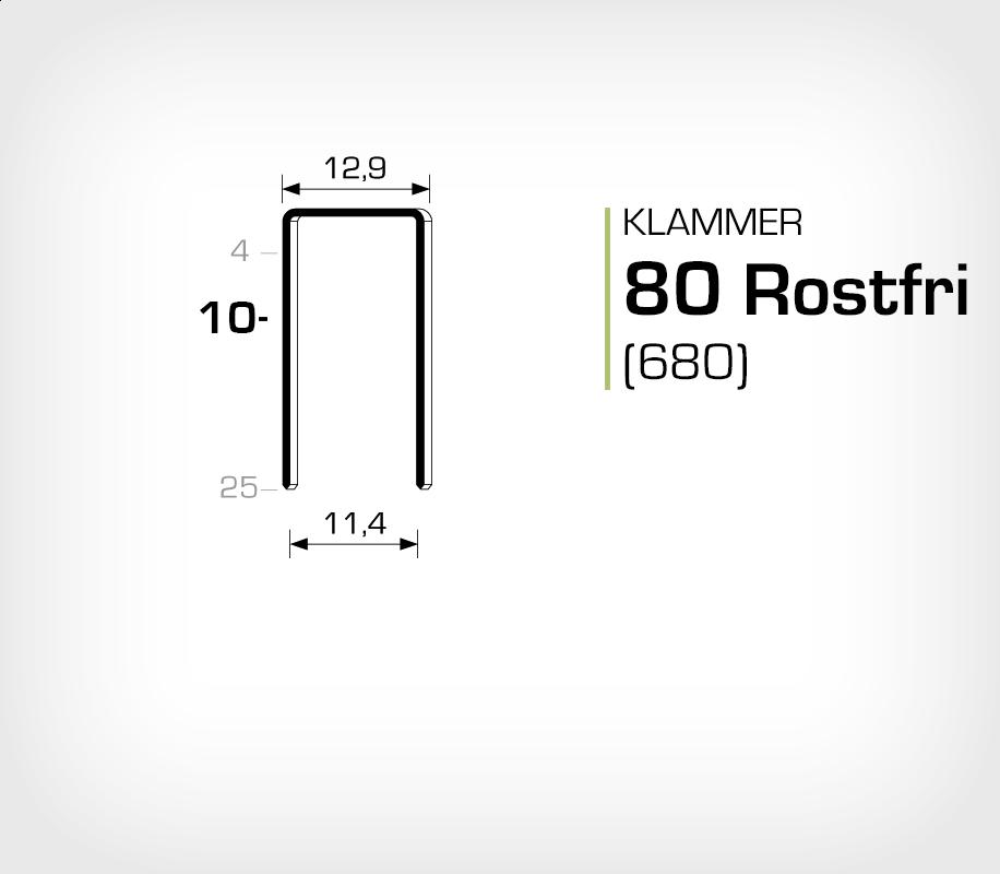 Klammer 80/10 SS (Rostfri)