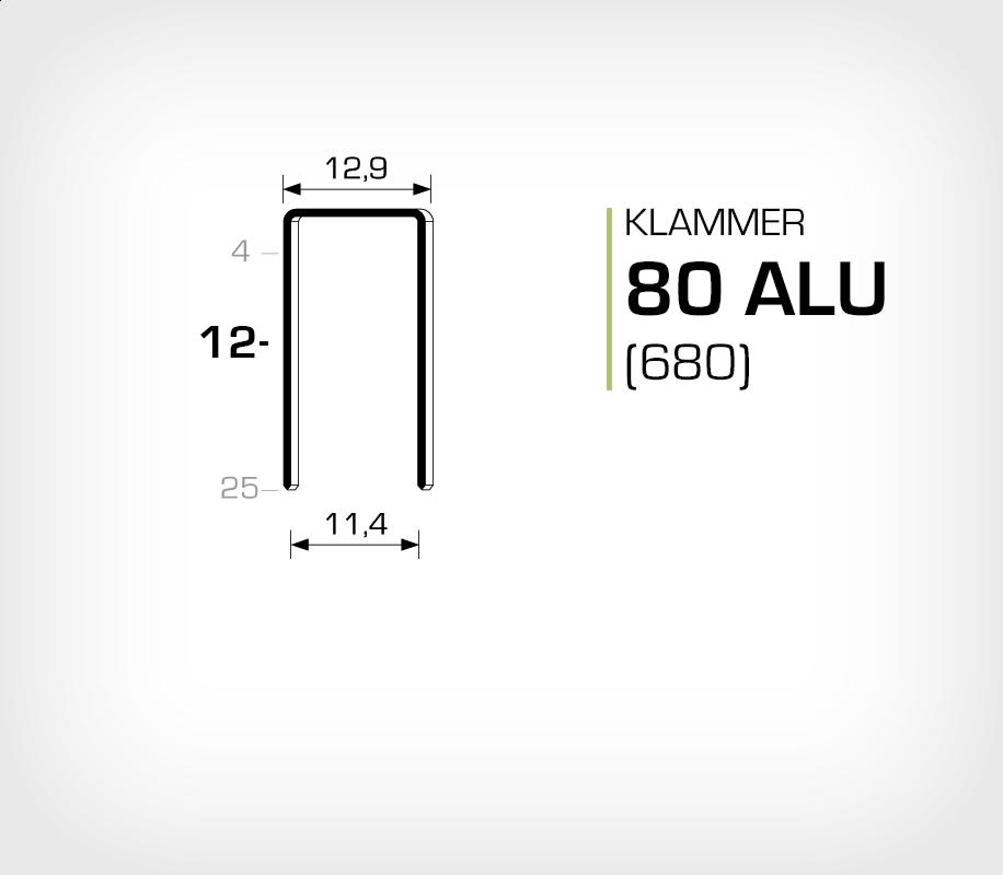 Klammer 80/12 ALU (Aluminium)