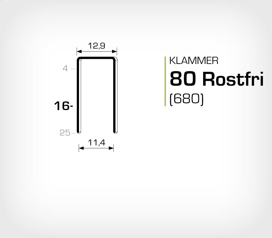 Klammer 80/16 SS (Rostfri)