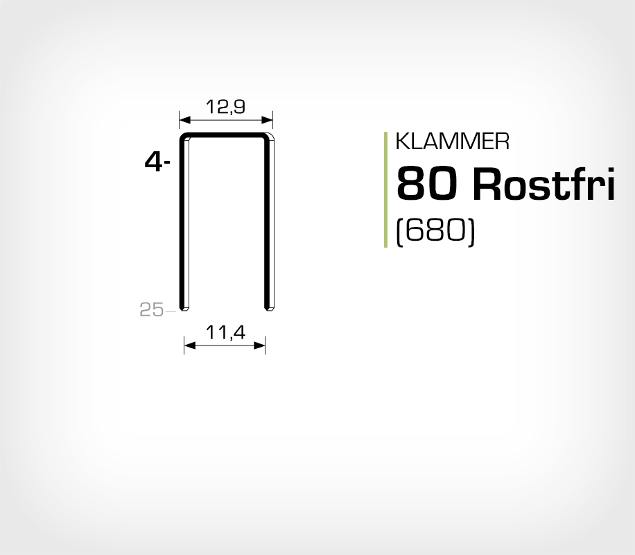 Klammer 80-04 SS Rostfri