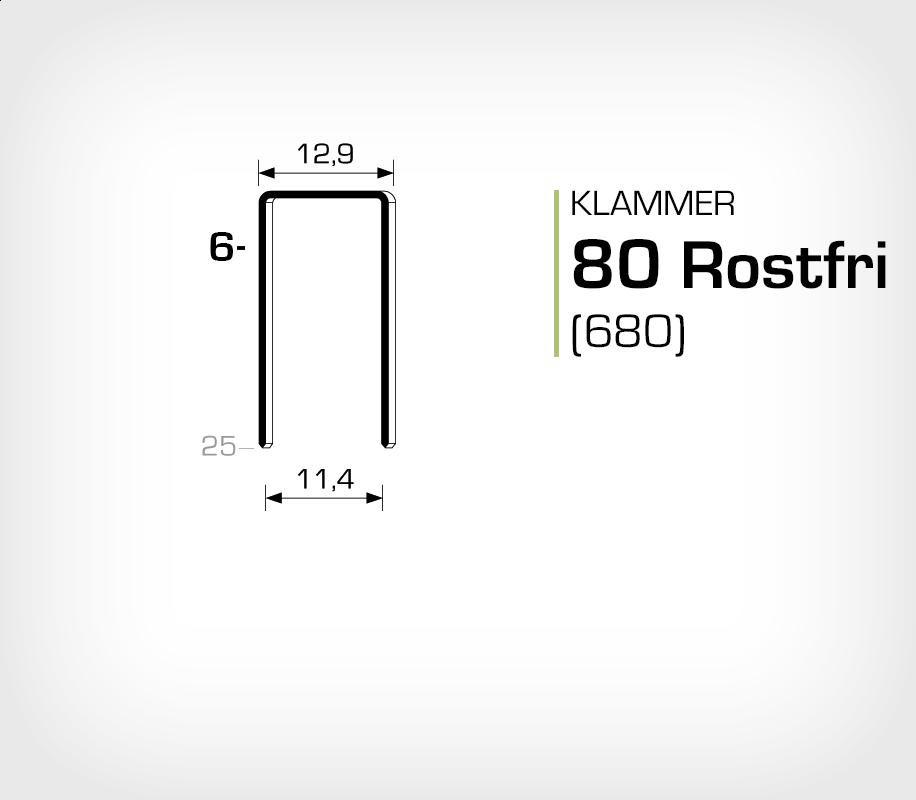 Klammer 80/6 SS - Rostfri