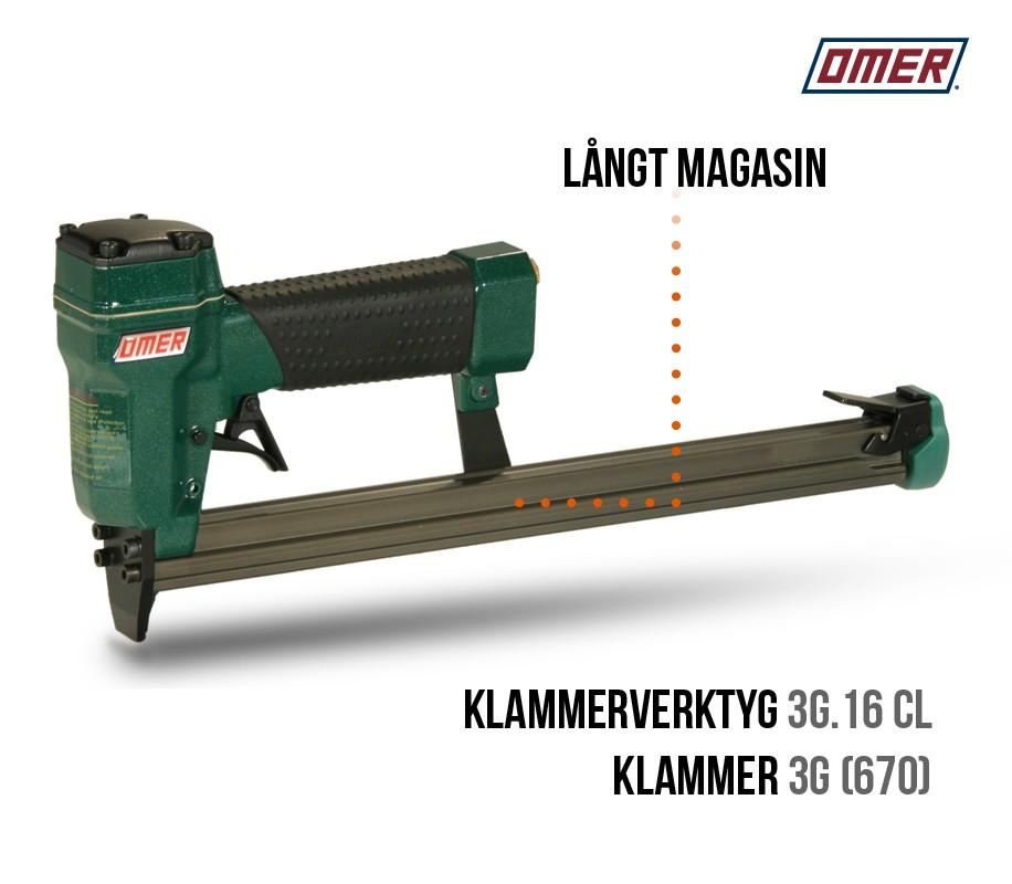 Klammerverktyg 3G.16 CL - Långt magasin