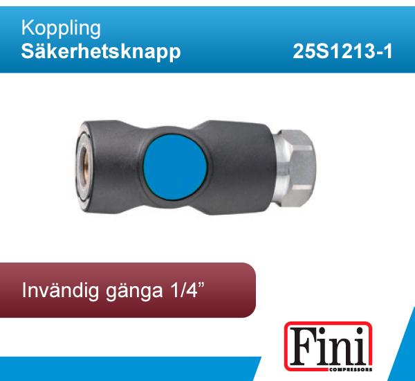 """Koppling - Säkerhetsknapp, invändig gänga 1/4"""""""