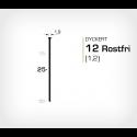 Dyckert 12/25 SS Rostfri - 7000 st /ask