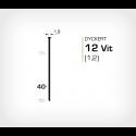 Dyckert 12/40 Vitlackerad - 7000 st /ask
