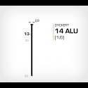 Dyckert 14/13 Aluminium (SKN 16-13 ALU) - 4000 st /ask