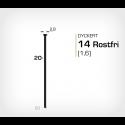 Dyckert 14/20 SS Rostfri (SKN 16-20 SS) - 4000 st /ask