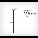 Dyckert 14/35 SS Rostfri (SKN 16-35 SS) - 4000 st /ask