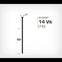 Dyckert 14/40 Vitlackerad (SKN 16-40) - 4000 st /ask