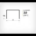 Klammer 32/15 (561-15K) - 2000 st / ask