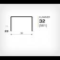 Klammer 32/22 (561-22K) - 15000 st / kartong
