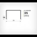 Klammer 35/18 (560-18K) - 2000 st / ask