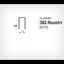 Klammer 3G/12 SS Rostfri (670-12 SS) - 10000 st / ask