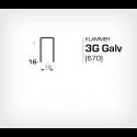 Klammer 3G/16 Galv (670-16) - 6000 st / ask