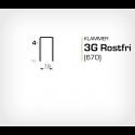 Klammer 3G/4 SS Rostfri (670-04 SS) - 20000 st / ask