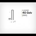 Klammer 40/22 Galv (690-22) - 10000 st / ask