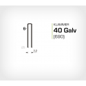Klammer 40/6 Galv (690-06) - 20000 st / ask