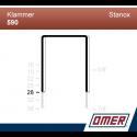 Klammer 590/28 - 10000 st / kartong