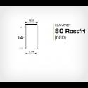 Klammer 80/14 SS (Rostfri) - 10000 st / ask