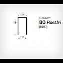Klammer 80/8 SS (Rostfri) - 10000 st / ask