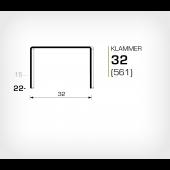 Klammer 32/22 (561-22K) - Häftklammer OMER