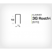 Klammer 3G/10 SS Rostfri (670-10 SS)