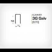 Klammer 3G/12 Elförzinkad Galv (670-12)