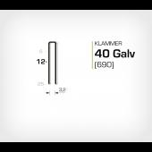 Klammer 40/12 Elförzinkad Galv (690-12)
