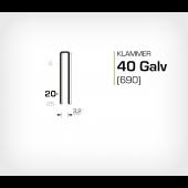 Klammer 40/20 Elförzinkad Galv (690-20)