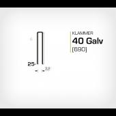 Klammer 40/25 Elförzinkad Galv (690-25)