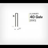 Klammer 40/6 Elförzinkad Galv (690-06)
