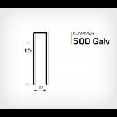 Klammer 500/15 Elförzinkad Galv (HK515)