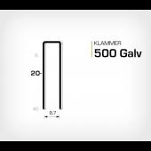 Klammer 500/20 Elförzinkad Galv (HK520)