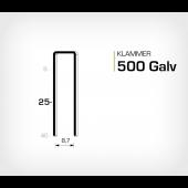 Klammer 500/25 Elförzinkad Galv (HK525)