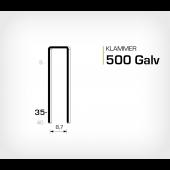 Klammer 500/35 Elförzinkad Galv (HK535)
