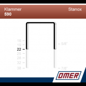 Klammer 590/22  - Emballageklammer