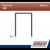 Klammer 590/32  - Emballageklammer