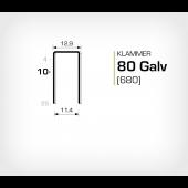 Klammer 80/10 Elförzinkad (680-10) - 10 mille