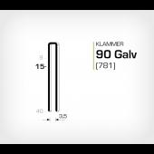 Klammer 90/15 Galv - Elförzinkad (781-15)