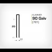 Klammer 90/20 Galv - Elförzinkad (781-20)